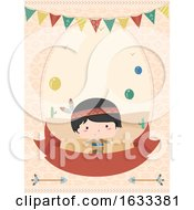 Kid Boy Birthday Invitation Illustration