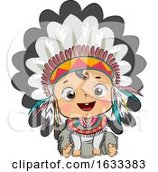 Kid Boy Baby Native American Head Dress