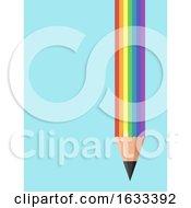 Creative Writing Rainbow Pencil Illustration