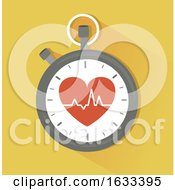 Poster, Art Print Of Stopwatch Heart Beat Illustration