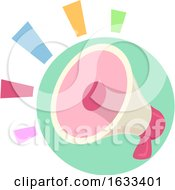 Icon Megaphone Loud Colorful Illustration