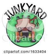 Poster, Art Print Of Junkyard Icon Illustration