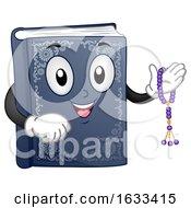 Poster, Art Print Of Mascot Book Quran Prayer Beads Illustration