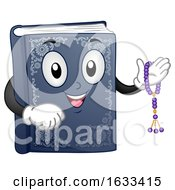 Mascot Book Quran Prayer Beads Illustration