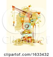 Poster, Art Print Of Wrecking Yard Tree Illustration