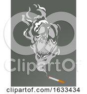 Poster, Art Print Of Cigarette Smoke Skull Illustration