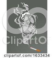 Cigarette Smoke Skull Illustration