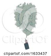 Poster, Art Print Of Electronic Cigarette Smoke Skull Illustration