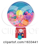 Candy Machine Planets Illustration