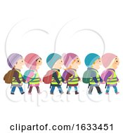 Stickman Kids Sweden Students Walk Illustration