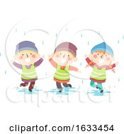 Kids Nature Rain Shower Illustration