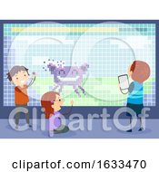 Poster, Art Print Of Stickman Kids Making Video Game Illustration