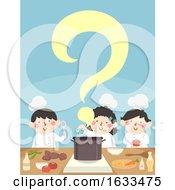 Kids Cook Question Mark Illustration
