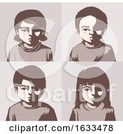 Kids Miserable Concept Illustration