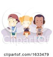 Kids Mobile Phone Play Games Illustration