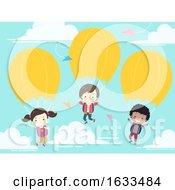 Kids Student School Parachute Illustration