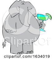 Cartoon Elephant Holding A Margarita