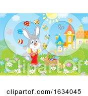 Poster, Art Print Of Bunny Rabbit Juggling Easter Eggs