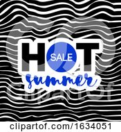 Hot Summer Sale Text On Wavy Background