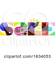 Sale Banner Template Design With Multicolored Letters And Contemporary Design Elements