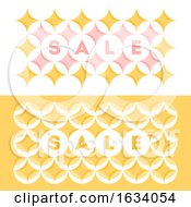 Abstract Sale Banner Template Design With Pastel Colored Geometric Pattern With Circles And Stars In A Yellow And Pink