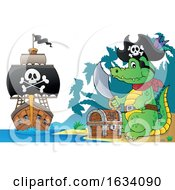 Pirate Crocodile On A Beach