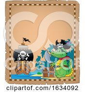 Pirate Crocodile Parchment Border