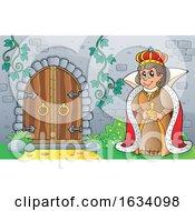 Queen By A Castle Door