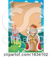 Queen Near A Castle Border