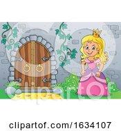 Princess By A Castle Door