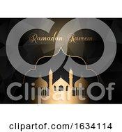 Low Poly Ramadan Kareem Background