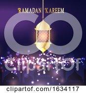 Ramadan Kareem Background With Hanging Lantern
