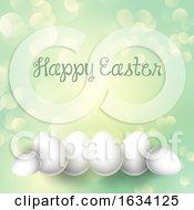 Poster, Art Print Of Easter Eggs On A Bokeh Lights Background