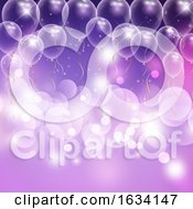 Balloons And Bokeh Lights Celebration Background