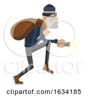 Thief Burglar Robber Criminal Cartoon Mascot