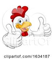Poster, Art Print Of Chicken Rooster Cockerel Bird Cartoon Character