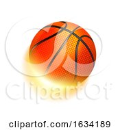 03/18/2019 - Basketball Sport Ball In Fire