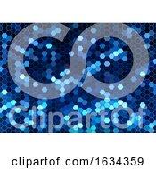 Poster, Art Print Of Blue Honeycomb Geometric Background