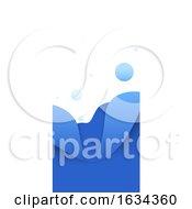 Poster, Art Print Of Blue Vertical Website Banner