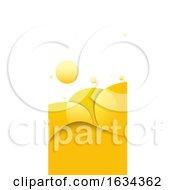 Poster, Art Print Of Yellow Vertical Website Banner