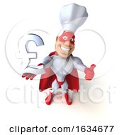 3d White Male Super Chef In A Red And White Costume On A White Background