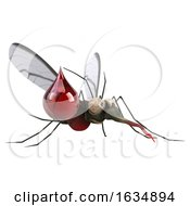 3d Mosquito On A White Background