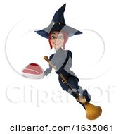 Poster, Art Print Of 3d Sexy Blue Witch On A White Background