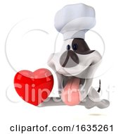 Poster, Art Print Of 3d Jack Russell Terrier Dog Chef On A White Background