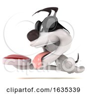 Poster, Art Print Of 3d Jack Russell Terrier Dog On A White Background