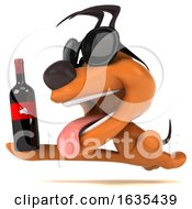 Poster, Art Print Of 3d Puppy Dog On A White Background