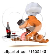 3d Puppy Dog Chef On A White Background