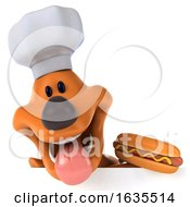 Poster, Art Print Of 3d Puppy Dog Chef On A White Background