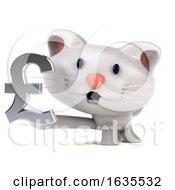 3d White Kitten On A White Background