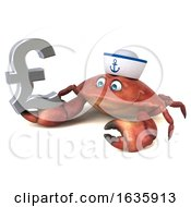 3d Sailor Crab On A White Background